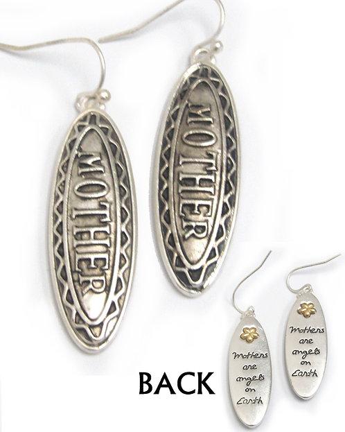 Silver Mother Earrings