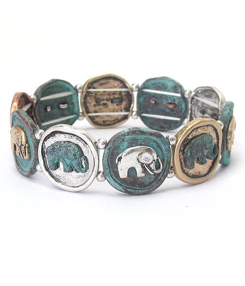 Elephant Disc Stretch Bangle