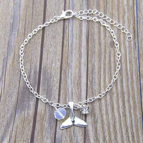 Silver Whale Tail Bracelet