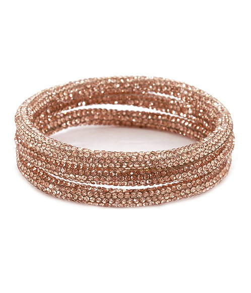 Peach Rhinestone Bangle