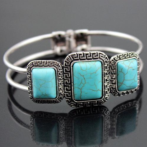 Rectangular Turquoise Bracelet
