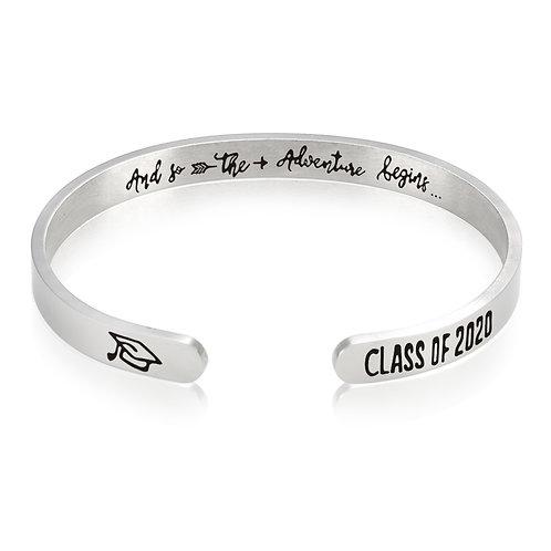 Class of 2020 Inspirational Cuff Bracelet