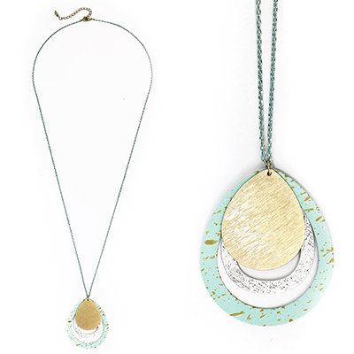 Speckled Plated Necklace