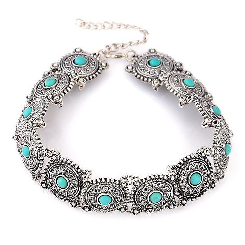 Silver& Turquoise Choker