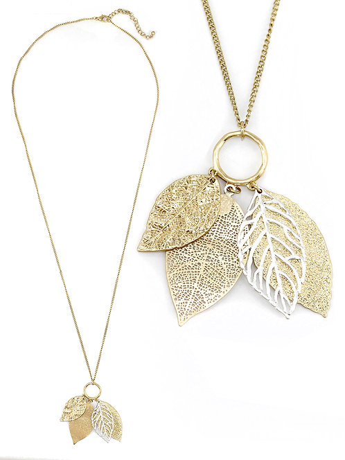 Filigree Feather Necklace