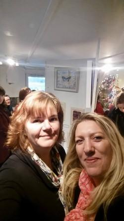 Me and Sacha - Purbeck Workshop Exhi