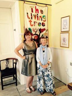 Me and Living Tree Coordinator Jo.