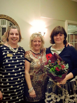 Me and the ladies at Culliford House