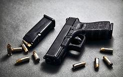 Pistole und Munition