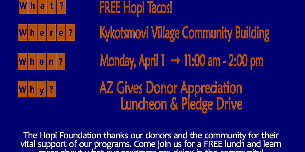 AZ Gives Day Donor Appreciation Luncheon & Pledge Drive
