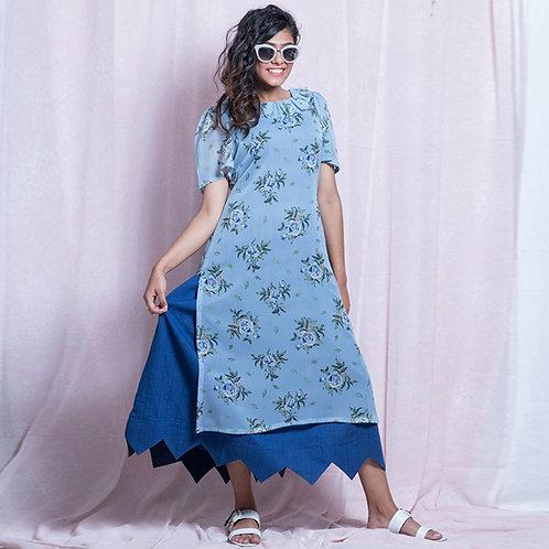 Princess blue cotton dress