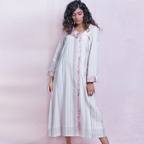 Pink & White Stripes Dress