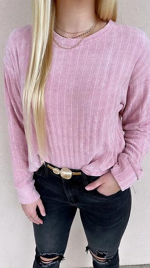 Blush Crop Sweater
