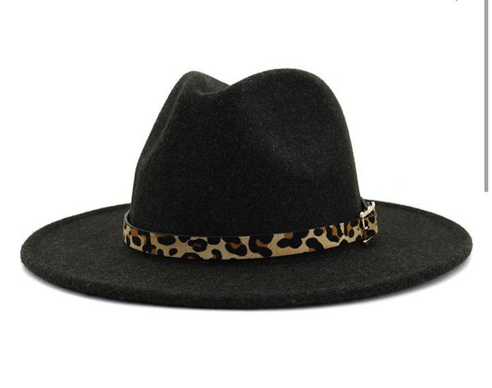 Leopard Panama Hat