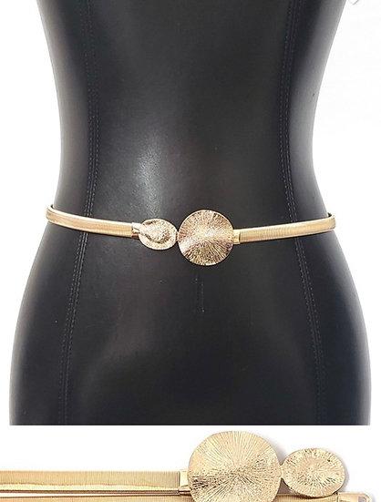 Gold Round Buckle Belt