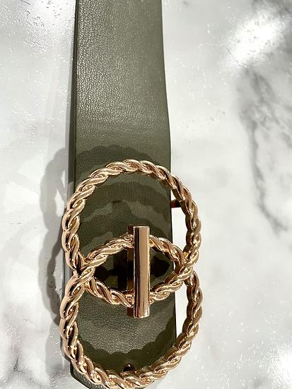 Gold Infinity Bar Belt