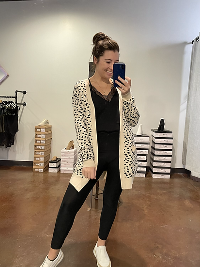 Spotted Cardigan