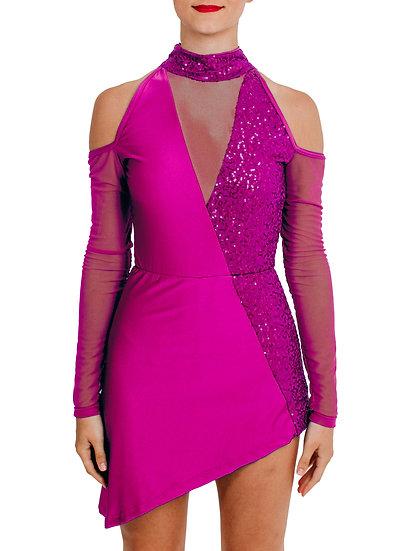 MATTIE - Cold Shoulder Sequin Knit