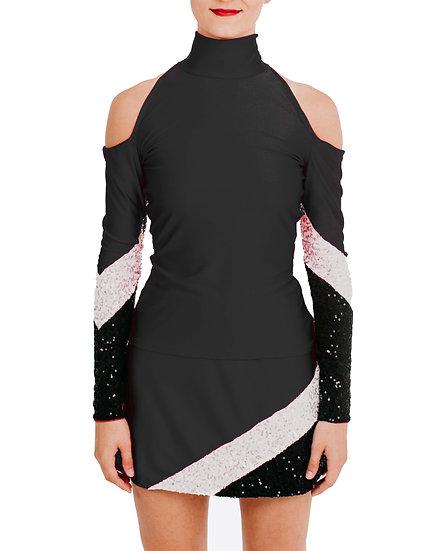 SAMMY - Cold Shoulder Sequin Knit
