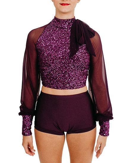 KAYLA - Crop Sequin Knit