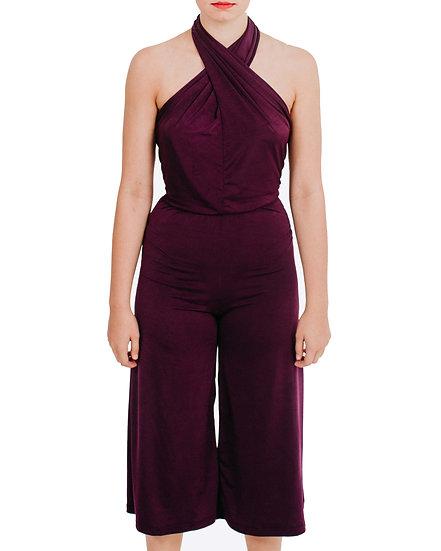 NOELLE - Capri Jumpsuit Lycra Knit
