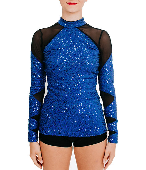 HUNTER - Hip Length Black Mesh Sequin Knit