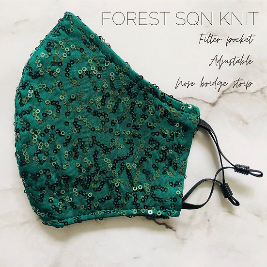 FOREST GREEN SQN KNIT