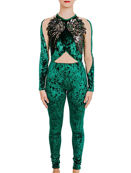 KENNEDY - Jumpsuit Crushed Velvet