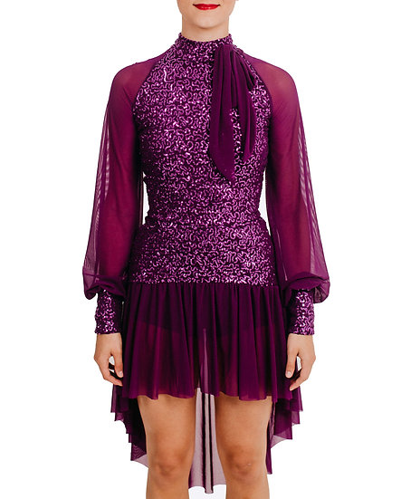 KAYLA - Drop-waist Hilo Sequin Knit