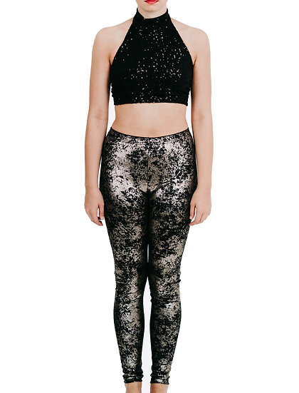 LEGGING - Metallic Velvet