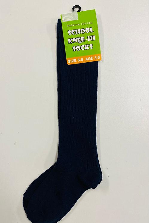 St Jerome's Navy Knee High Socks