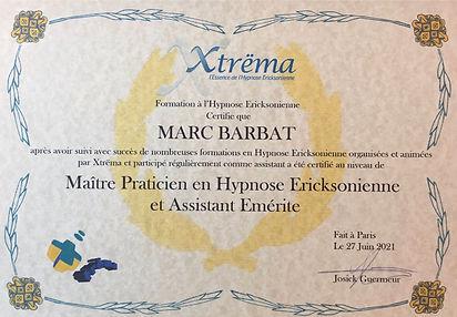 Diplome Maitre Praticien allegé.JPG