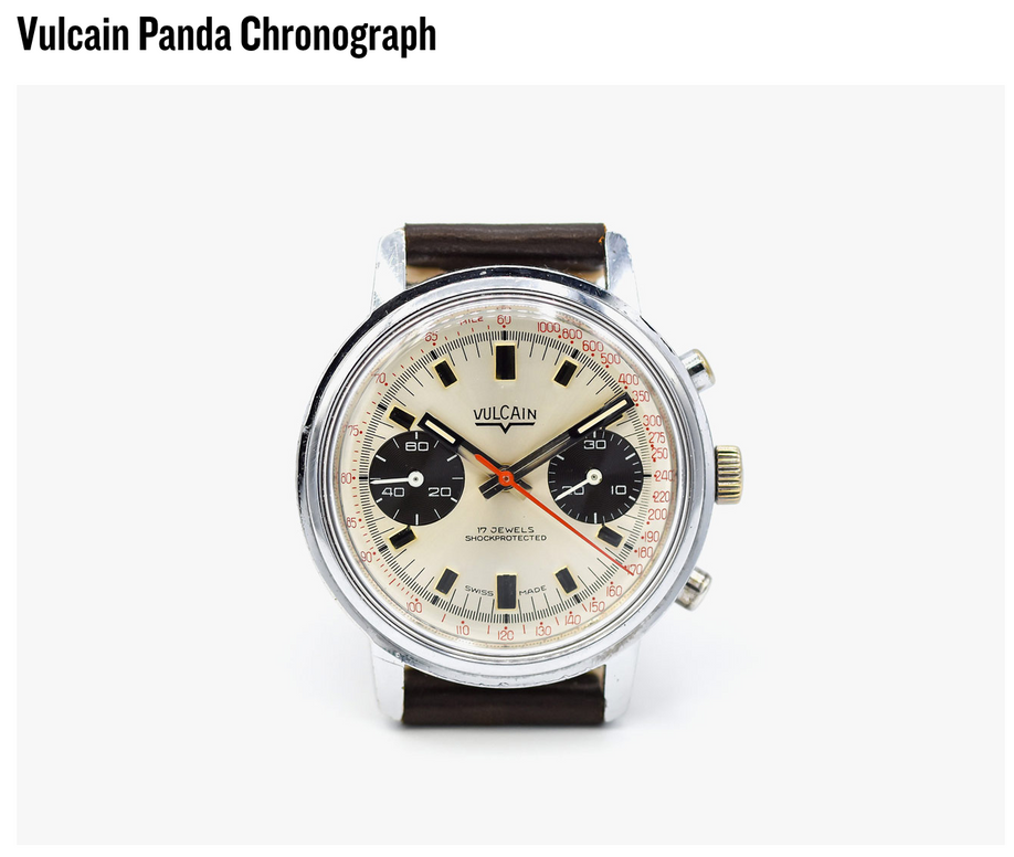 The Vulcain Panda is featured on Gear Patrol