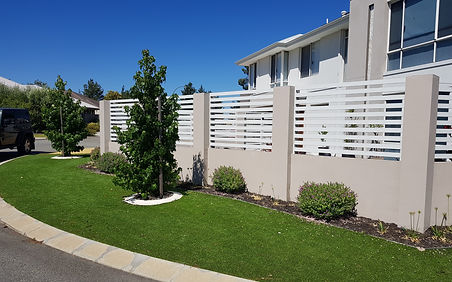 Front fence permeable design