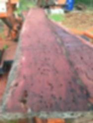 Jarrah timber slab