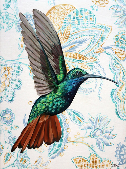 Humming Bird #1 greeting card