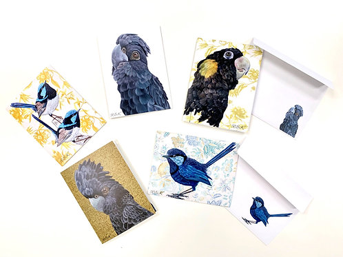 Australian native greeting card pack of 5