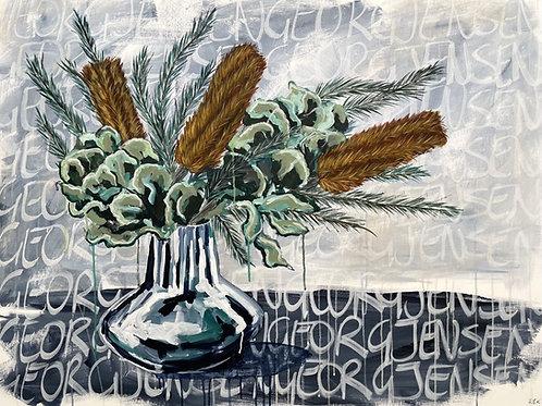 Banksias & Hakea in Georg Jensen Vase