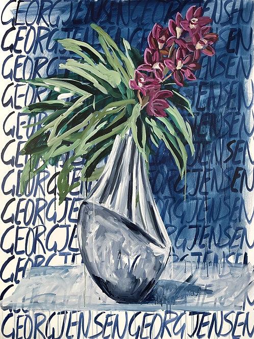 Cymbidium Orchids in George Jensen #1
