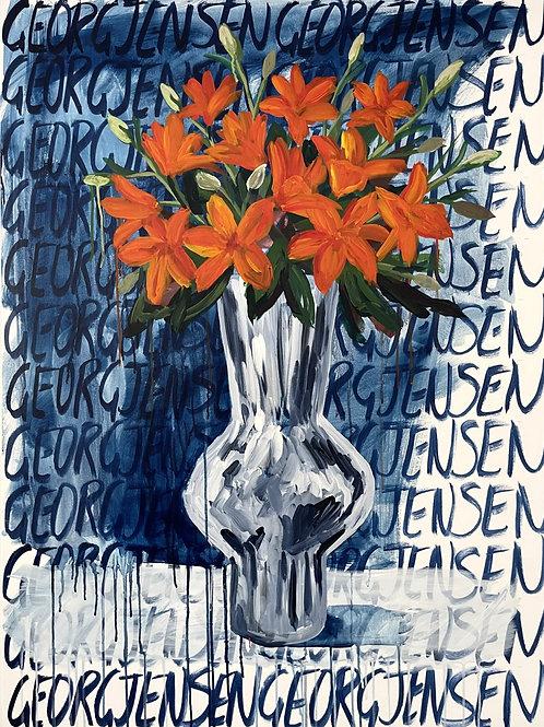 Asiatic Lilie's in Georg Jesen Vase #1