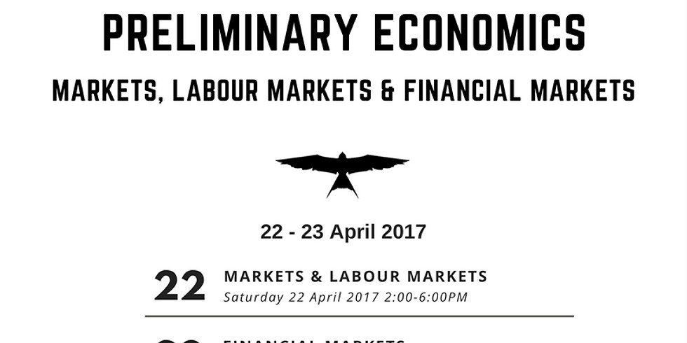 Preliminary Economics - Topics 3,4 & 5 Intensive Course