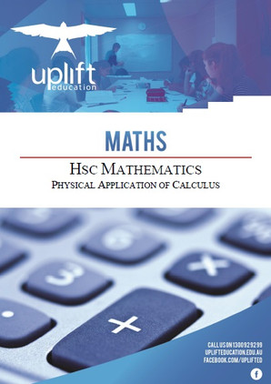 HSC Mathematics - Physical Applications of Calculus
