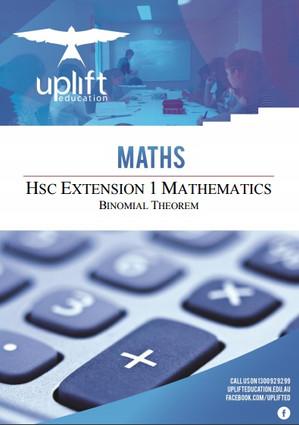 HSC Extension 1 Maths - Binomial Theorem Workbook