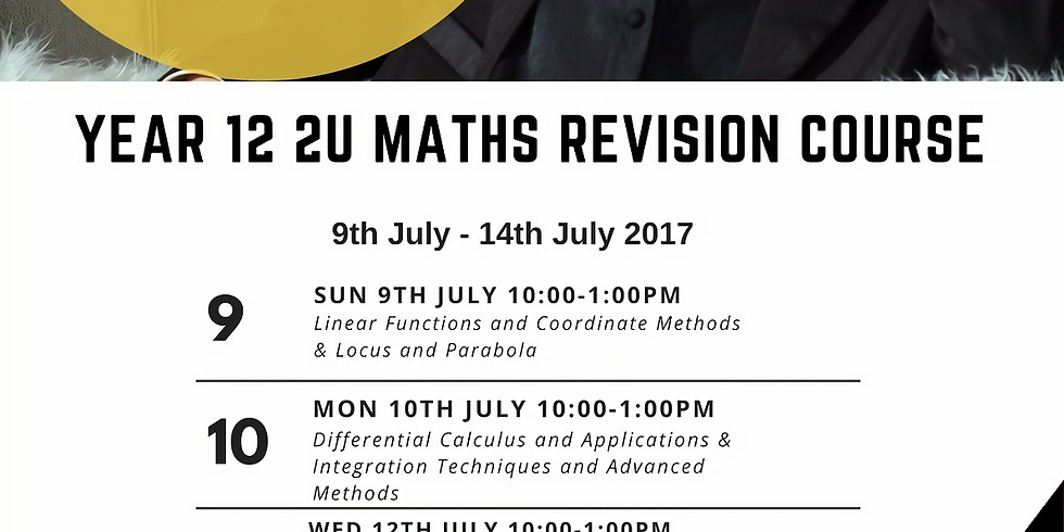 HSC 2U Mathematics Revision Course