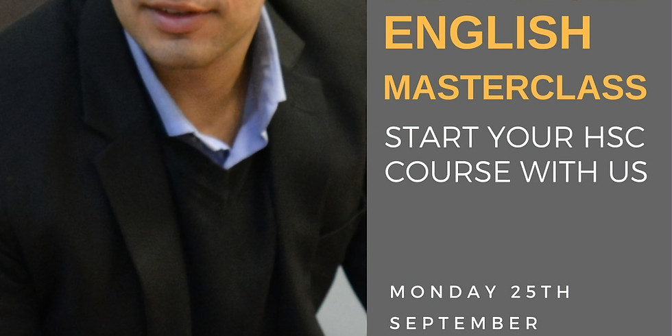 Year 11 into Year 12 Advanced English Masterclass