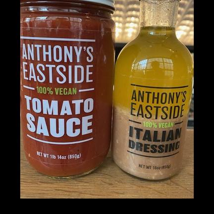 Anthony's Eastside Signature Tomato Sauce and Italian Dressing