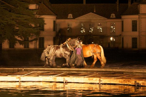 Représentation, théâtre chevaux