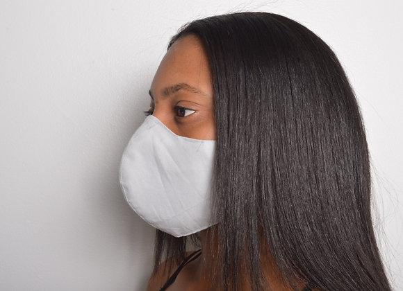 Cotton Face Mask - Light Gray