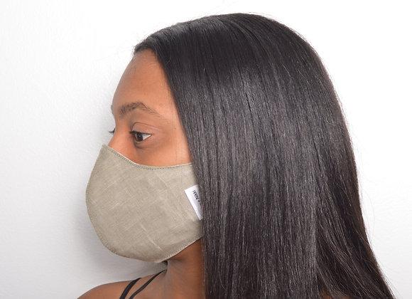 Linen Face Mask - Shaker Beige