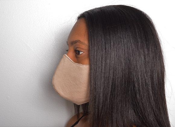 Muslin Cotton Face Mask - Tan